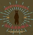 Montgomery Alabama t-shirt graphic vector image vector image
