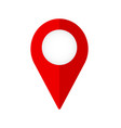 new flat design map pin red style modern icon vector image