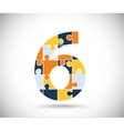 Number six vector image vector image