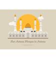 Nur-Astana Mosque in Astana Kazakhstan vector image