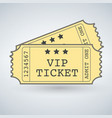 pair vip tickets vector image vector image