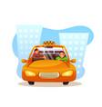 passenger sleeping in taxi flat vector image vector image