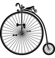 penny farthing antique vintage bicycle vector image vector image
