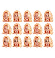 portraits beautiful woman with blonde hair vector image