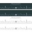 pyongyang single line skyline banner vector image