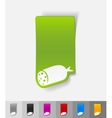 realistic design element salami vector image