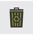 recycle basket vector image vector image