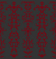 rococo seamless pattern vector image vector image