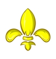 Royal lily icon cartoon style vector image vector image