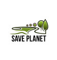 save planet nature ecology icon vector image vector image