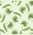 seamless pattern with two kinds of palm branches vector image vector image