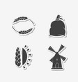 set of hand drawn stickers vector image vector image
