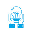 silhouette businessman with bulb idea with hands vector image