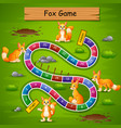 snakes and ladders game fox theme vector image vector image