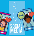 social media and smartphone chat vector image