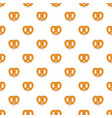 soft pretzel pattern seamless vector image