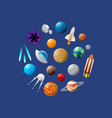 space ships and planets vector image vector image