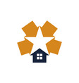 star real estate vector image vector image