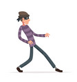 thief sneak walk cartoon criminal character vector image vector image