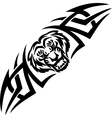 Tiger and symmetric tribals vector image