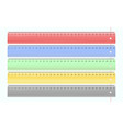 transparent multi-colored plastic rulers set vector image