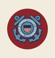 united states coast guard vector image vector image