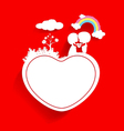 Valentines day background with cloud vector image vector image