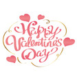 valentines day logo or icon on white background vector image vector image