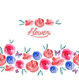 Watercolor Floral Seamless Background vector image vector image