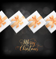 winter holidays postcard merry christmas elegant vector image