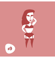 Silhouettes Sexy Standing Girl in Lingerie vector image