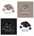 Cartoon cute outline dog vector image
