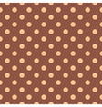 Tile pattern with polka dots on brown background vector image