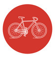 line art style bicycle icon vector image