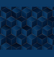 abstract box geometric pattern blue and gold vector image