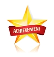 Achievement Star With Red Ribbon Yellow vector image vector image