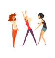 aggressive girls quarreling and swearing girls vector image vector image