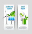 alternative sources and green energy banners vector image vector image