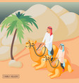 arabic family background vector image vector image