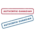 Authentic Canadian Rubber Stamps vector image vector image