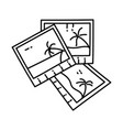 beach photo icon doodle hand drawn or outline vector image
