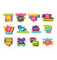 big super sale up to 90 promotional emblems set vector image vector image