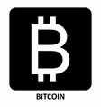 bitcoin symbol vector image