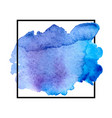 blue watercolor vector image