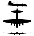 Boeing b17 flying fortress vector image vector image