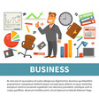business and finance businessman and work vector image