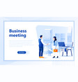 business meeting web page design template vector image