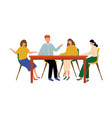 business working meeting office people at wood vector image vector image