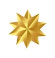christmas golden star icon symbol design vector image