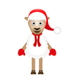 Christmas sheep on white background vector image